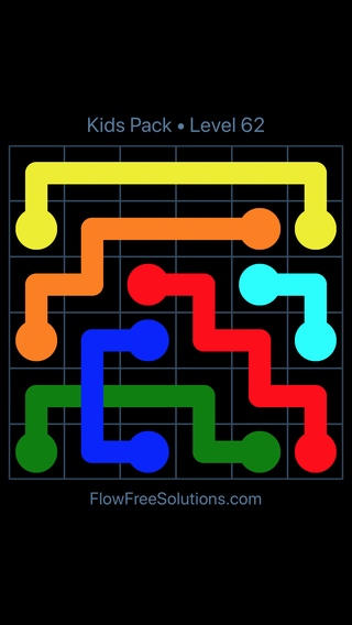 Solution and Answer to the Puzzle for Flow Free: Bridges Kids Pack Level 2