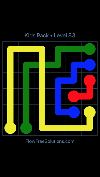 Solution and Answer to the Puzzle for Flow Free: Bridges Kids Pack Level 23