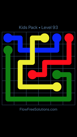 Solution and Answer to the Puzzle for Flow Free: Bridges Kids Pack Level 33