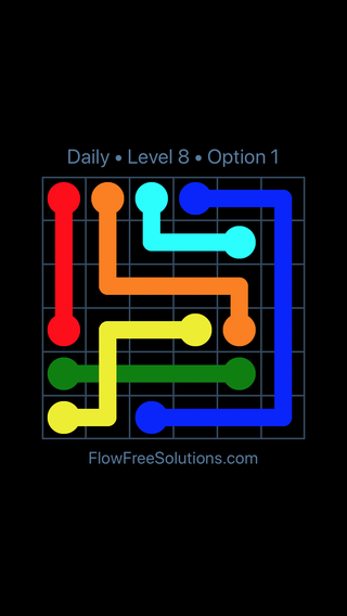 Solution and Answer to the Puzzle for Bridges Date Monday, January 8, 2018 Level 8