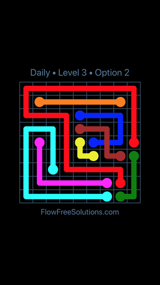Solution and Answer to the Puzzle for Bridges Date Wednesday, March 13, 2019 Level 3