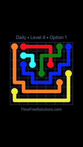 Solution and Answer to the Puzzle for Bridges Date Wednesday, April 11, 2018 Level 4