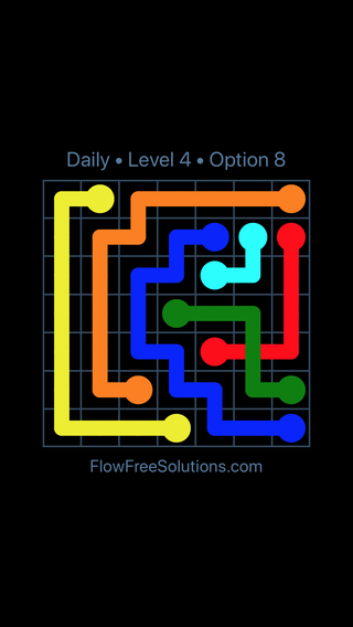 Solution and Answer to the Puzzle for Bridges Date Wednesday, April 7, 2021 Level 4