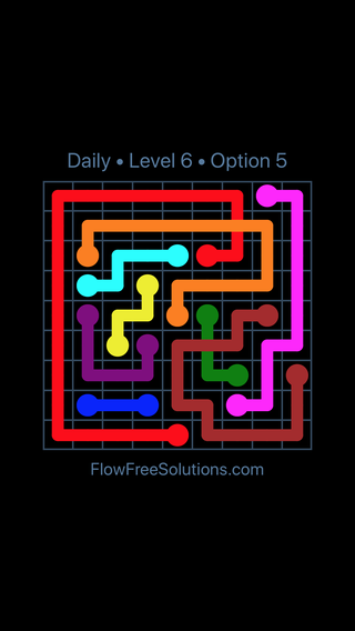 Solution and Answer to the Puzzle for Bridges Date Wednesday, April 11, 2018 Level 6