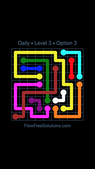Solution and Answer to the Puzzle for Bridges Date Thursday, April 12, 2018 Level 3
