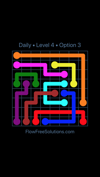 Solution and Answer to the Puzzle for Bridges Date Friday, April 13, 2018 Level 4