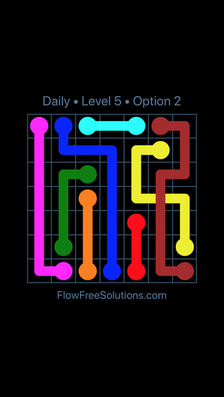 Solution and Answer to the Puzzle for Bridges Date Friday, April 13, 2018 Level 5