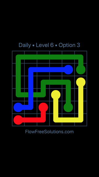 Solution and Answer to the Puzzle for Bridges Date Friday, April 13, 2018 Level 6