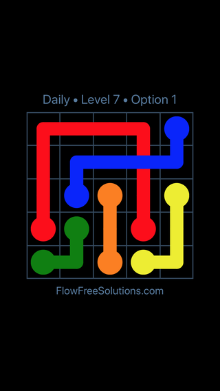 Solution and Answer to the Puzzle for Bridges Date Friday, April 13, 2018 Level 7