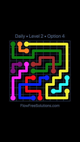 Solution and Answer to the Puzzle for Bridges Date Saturday, March 16, 2019 Level 2