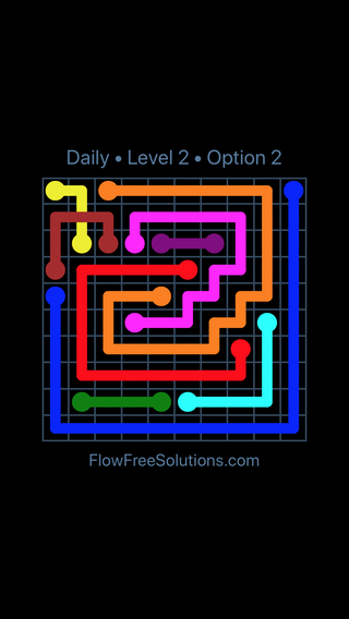 Solution and Answer to the Puzzle for Bridges Date Sunday, July 8, 2018 Level 2