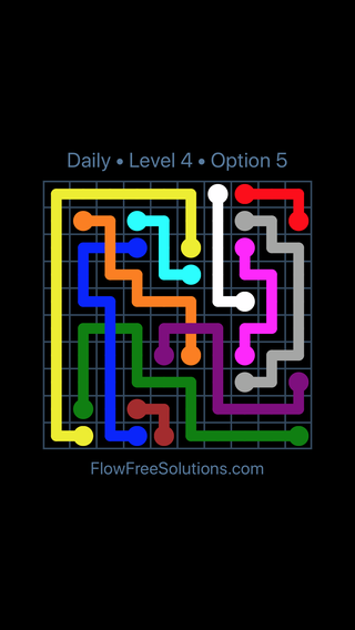 Solution and Answer to the Puzzle for Bridges Date Sunday, July 8, 2018 Level 4