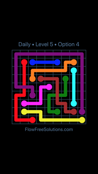 Solution and Answer to the Puzzle for Bridges Date Sunday, April 15, 2018 Level 5