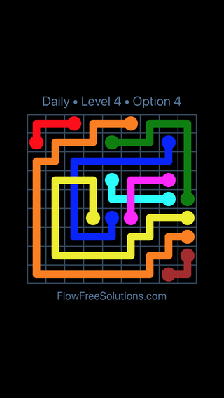 Solution and Answer to the Puzzle for Bridges Date Monday, July 9, 2018 Level 4