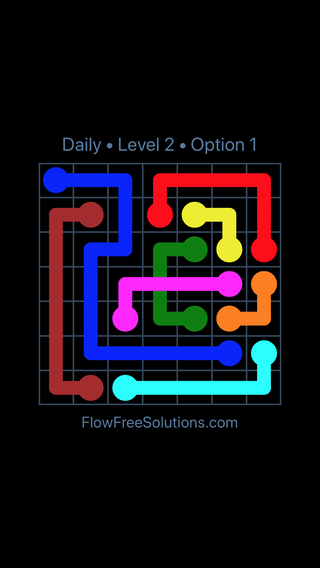 Solution and Answer to the Puzzle for Bridges Date Tuesday, April 17, 2018 Level 2