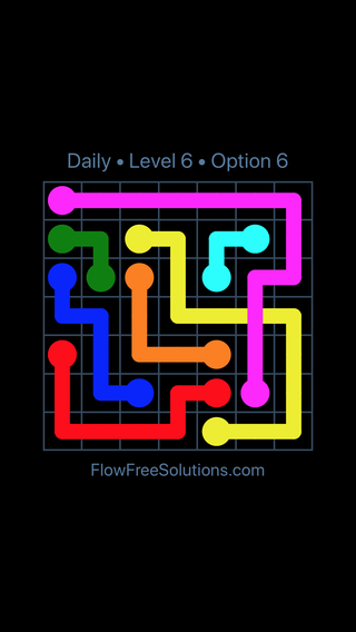 Solution and Answer to the Puzzle for Bridges Date Tuesday, April 17, 2018 Level 6