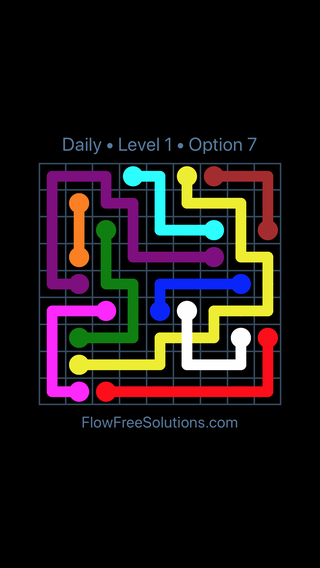 Solution and Answer to the Puzzle for Bridges Date Wednesday, July 11, 2018 Level 1