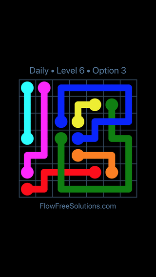 Solution and Answer to the Puzzle for Bridges Date Thursday, July 12, 2018 Level 6