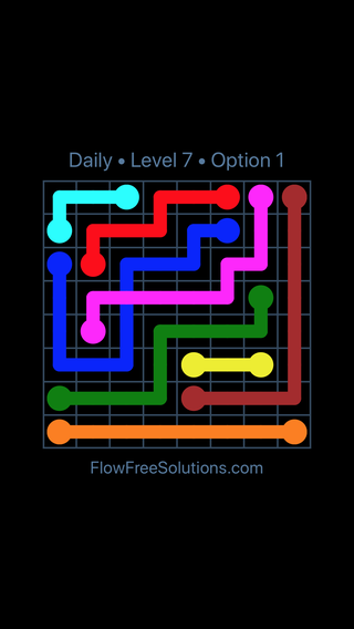 Solution and Answer to the Puzzle for Bridges Date Thursday, July 12, 2018 Level 7