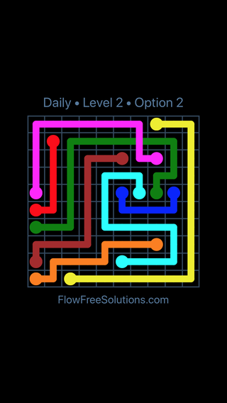 Solution and Answer to the Puzzle for Bridges Date Sunday, October 7, 2018 Level 2