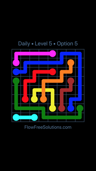 Solution and Answer to the Puzzle for Bridges Date Tuesday, September 10, 2019 Level 5