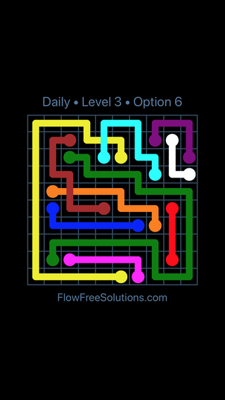 Solution and Answer to the Puzzle for Bridges Date Thursday, October 11, 2018 Level 3