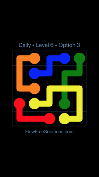 Solution and Answer to the Puzzle for Bridges Date Wednesday, November 15, 2017 Level 6
