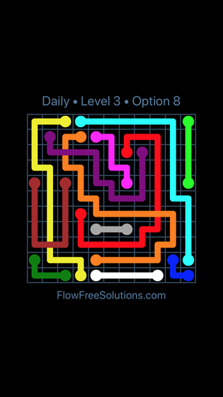 Solution and Answer to the Puzzle for Bridges Date Thursday, February 8, 2018 Level 3