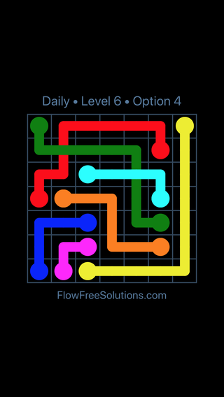 Solution and Answer to the Puzzle for Bridges Date Friday, February 9, 2018 Level 6