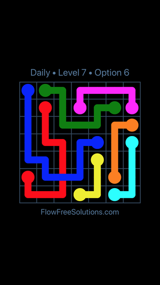 Solution and Answer to the Puzzle for Bridges Date Saturday, January 12, 2019 Level 7
