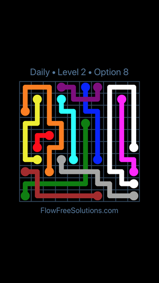 Solution and Answer to the Puzzle for Bridges Date Sunday, February 11, 2018 Level 2