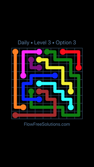 Solution and Answer to the Puzzle for Bridges Date Tuesday, February 13, 2018 Level 3