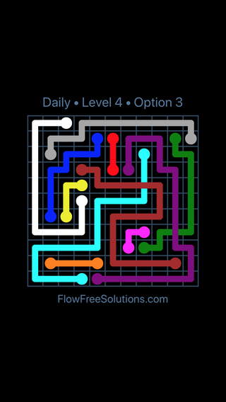 Solution and Answer to the Puzzle for Bridges Date Tuesday, February 13, 2018 Level 4