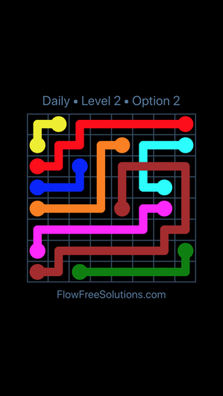 Solution and Answer to the Puzzle for Bridges Date Wednesday, February 14, 2018 Level 2