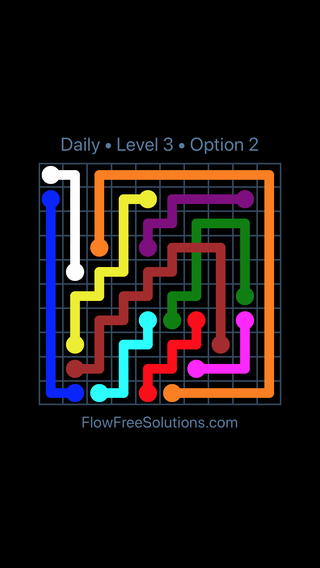 Solution and Answer to the Puzzle for Bridges Date Wednesday, February 14, 2018 Level 3