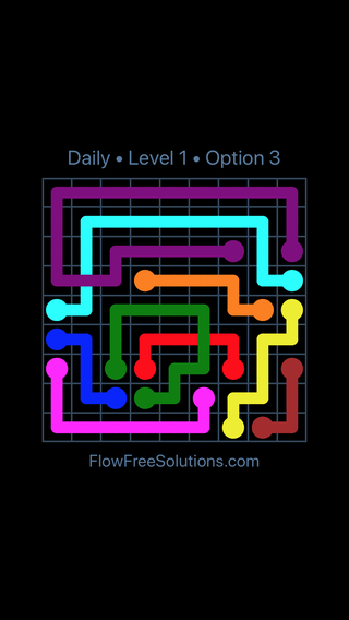 Solution and Answer to the Puzzle for Bridges Date Thursday, January 11, 2018 Level 1