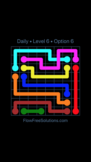 Solution and Answer to the Puzzle for Bridges Date Friday, May 11, 2018 Level 6