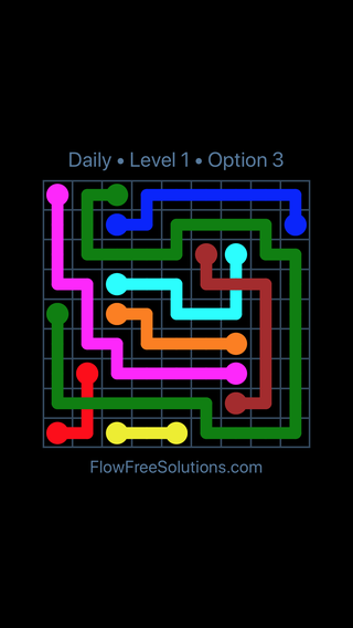 Solution and Answer to the Puzzle for Bridges Date Sunday, May 13, 2018 Level 1