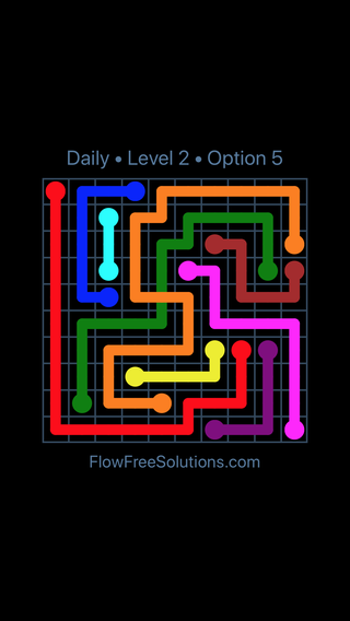 Solution and Answer to the Puzzle for Bridges Date Sunday, May 13, 2018 Level 2