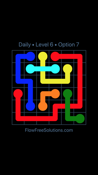 Solution and Answer to the Puzzle for Bridges Date Monday, May 14, 2018 Level 6