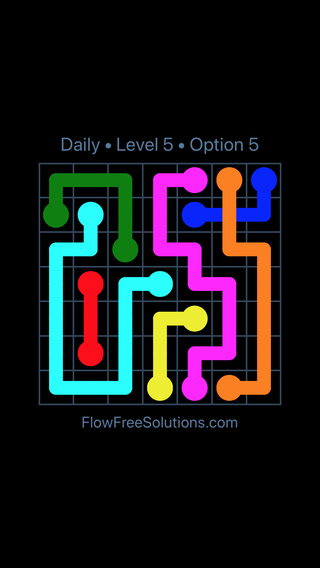 Solution and Answer to the Puzzle for Bridges Date Tuesday, August 7, 2018 Level 5