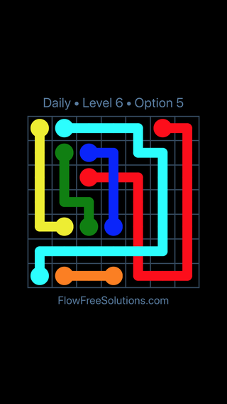 Solution and Answer to the Puzzle for Bridges Date Tuesday, May 15, 2018 Level 6