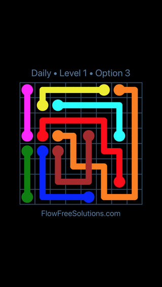 Solution and Answer to the Puzzle for Bridges Date Wednesday, May 16, 2018 Level 1