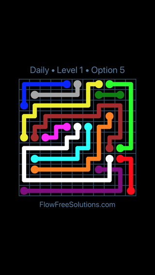 Solution and Answer to the Puzzle for Bridges Date Saturday, December 2, 2017 Level 1