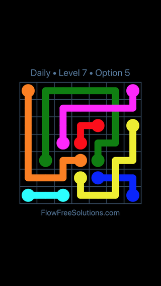 Solution and Answer to the Puzzle for Bridges Date Tuesday, December 5, 2017 Level 7