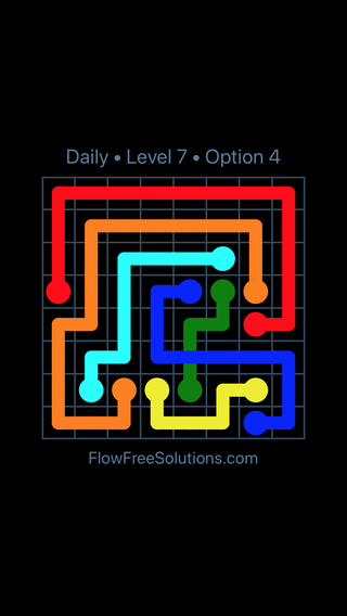 Solution and Answer to the Puzzle for Bridges Date Wednesday, December 6, 2017 Level 7