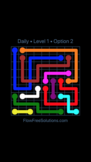 Solution and Answer to the Puzzle for Bridges Date Saturday, February 9, 2019 Level 1