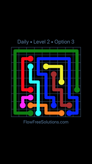 Solution and Answer to the Puzzle for Bridges Date Saturday, February 9, 2019 Level 2