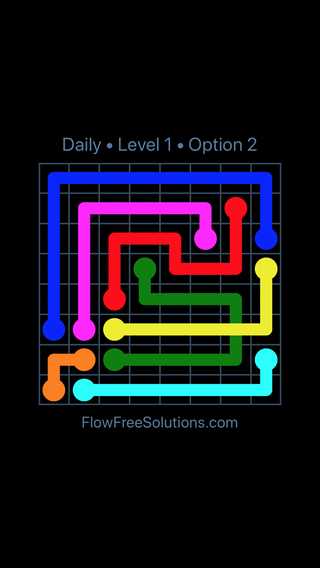 Solution and Answer to the Puzzle for Bridges Date Sunday, February 10, 2019 Level 1