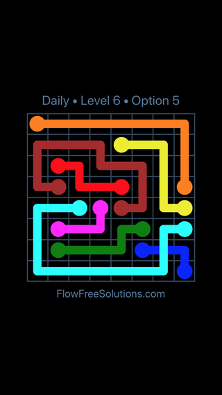 Solution and Answer to the Puzzle for Bridges Date Monday, February 11, 2019 Level 6